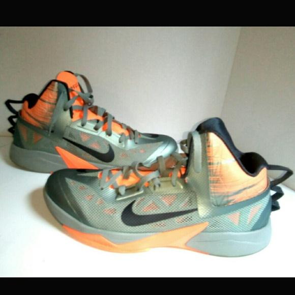 0f0896cf93c5 Nike Zoom Hyperfuse 2013 Sz 12 Orange Grey Sneaker.  M 5b6ad6c89fe4864a14e59a89